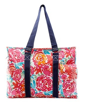 3a3f9513ec7 FLOWER PATTERN SMALL UTILITY TOTE